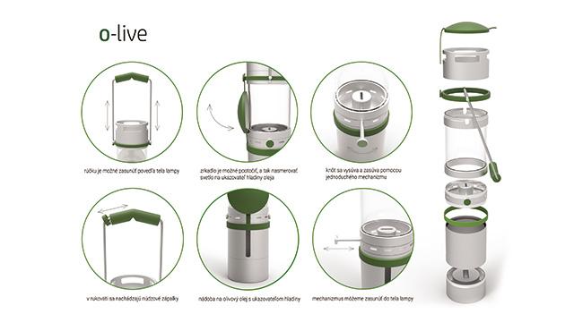 Atraktívne a efektné riešenie výpadku elektriny – lampa na olivový olej O-live | Inovujme.sk