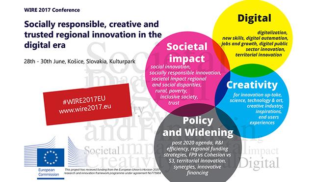 WIRE 2017: Týždeň inovatívnych regiónov Európy (28. – 30. 6. 2017, Košice)   Inovujme.sk