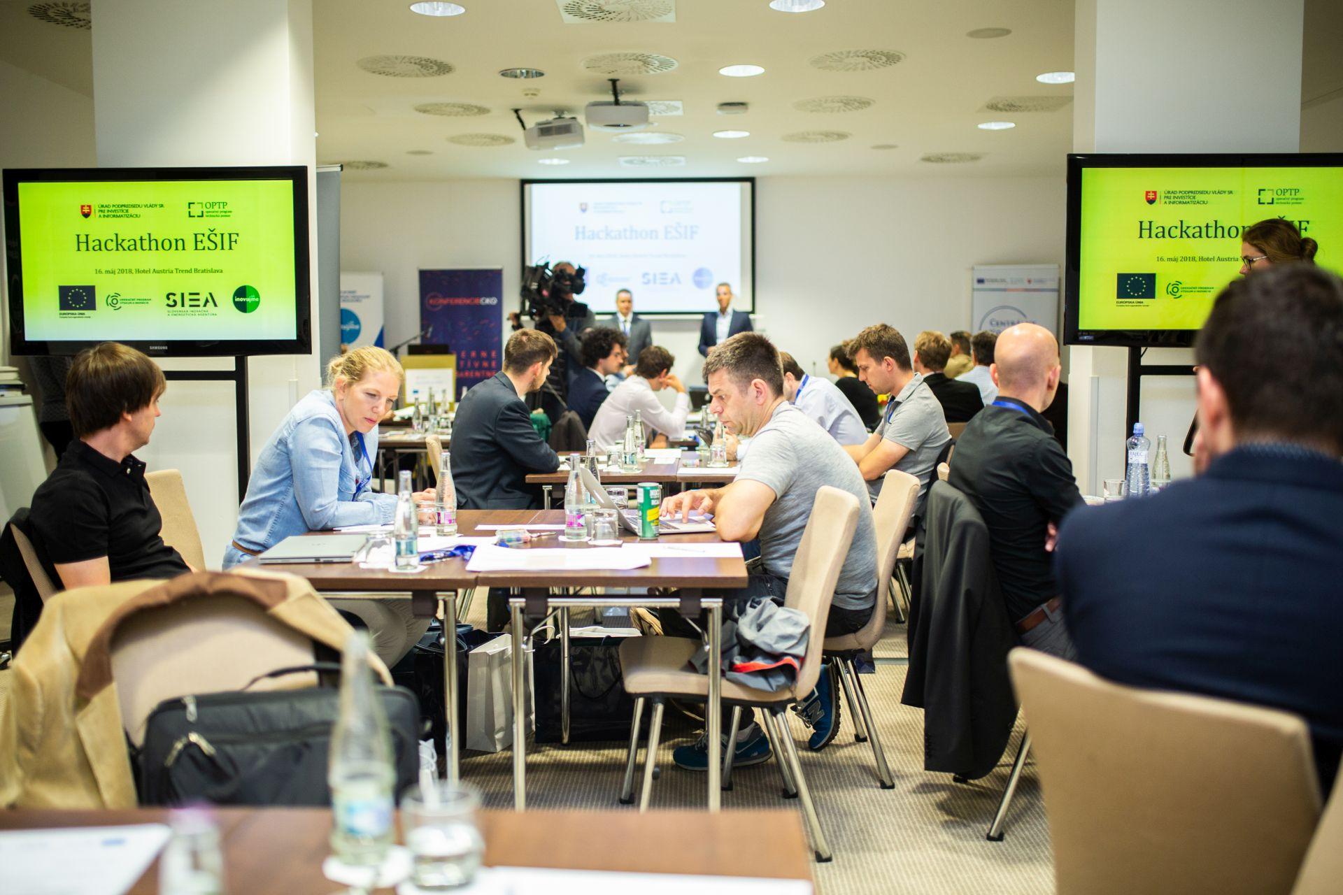 Hackathon EŠIF, Bratislava, 11. 5. 2018