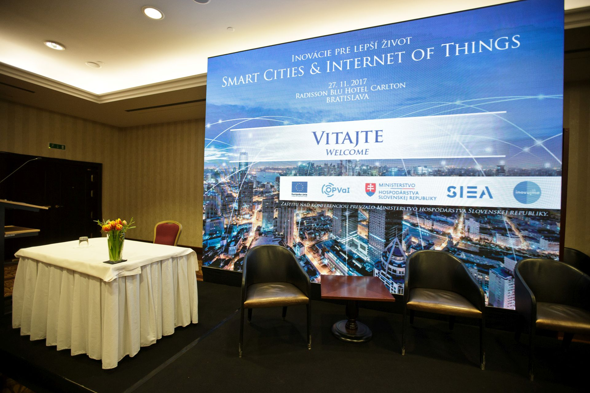 Konferencia Smart Cities, Bratislava, 27. 11. 2017